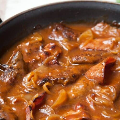liver bacon and onions