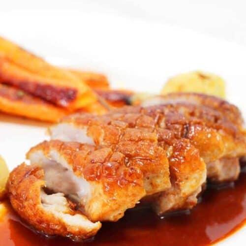 duck breast with orange sauce