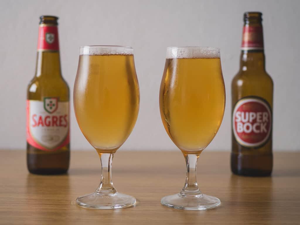 sagres and super bock beers