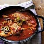 duck legs with veracruzan sauce