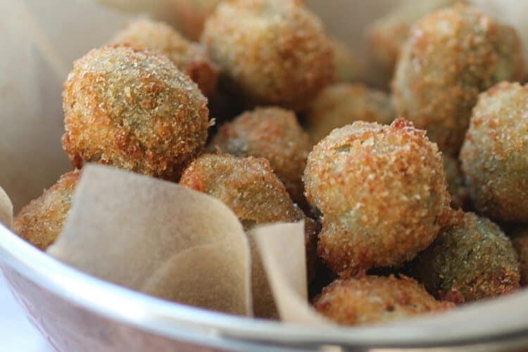 deep fried stuffed olives