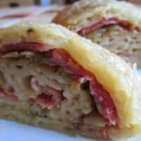 bacon and onion roly poly