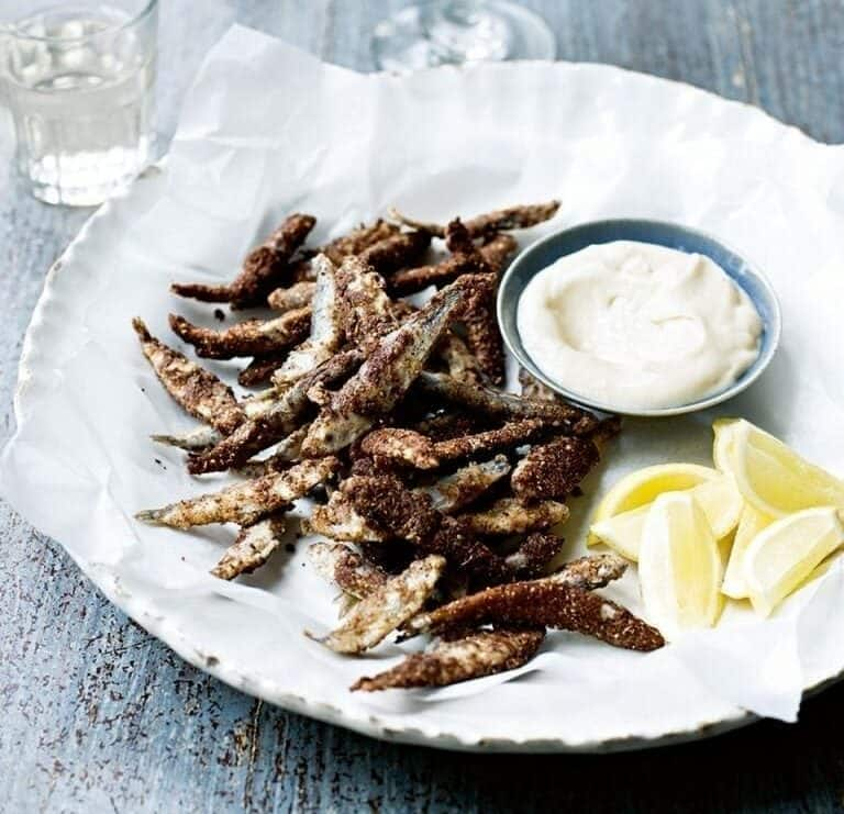 5 spice dusted whitebait