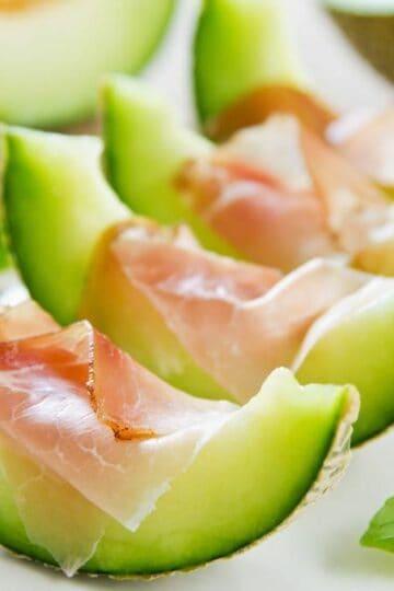 serrano ham with melon